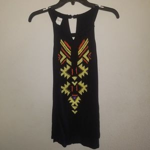 INC | Sleeveless Blouse Embroidered & Beaded Tank